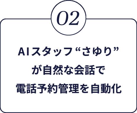 2.AIスタッフさゆりが自然な会話で電話予約管理を自動化